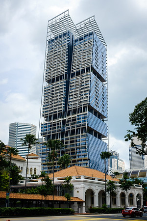 Old and new in downtown Singapore