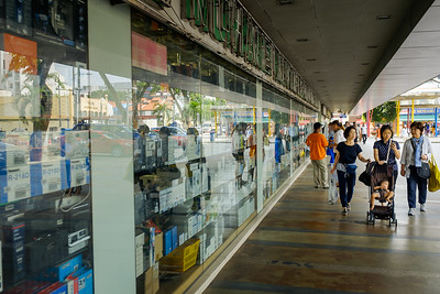 People shopping in Singapore