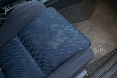 Seats were stained, lots of sand and dirt in the carpets.