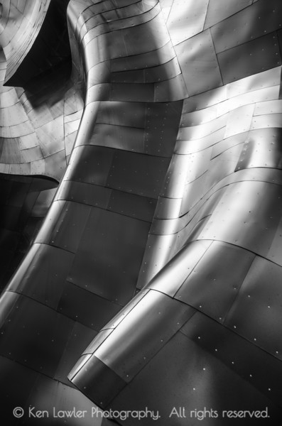 Metal folds, B&W