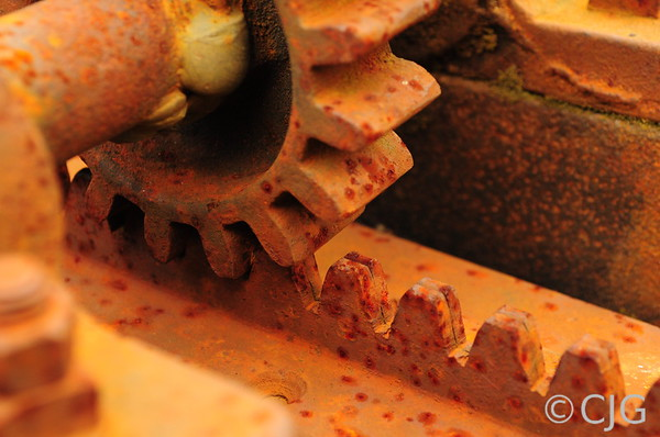 Some old rusty gears.