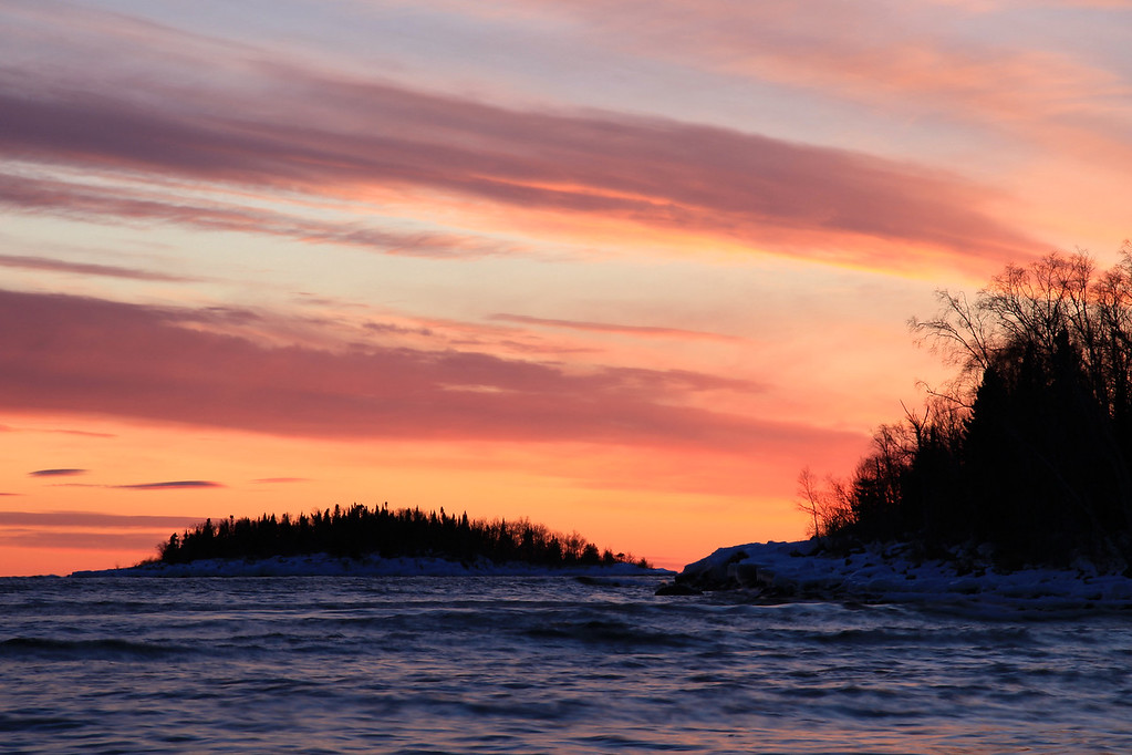 """CLOUDS 5302<br /> <br /> """"Blueberry Island Sunset"""""""