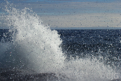 A wave on Lake Superior.
