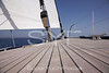 Teak deck & headsail furling