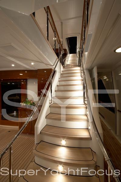 Feadship,illuminated stairs