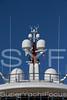 Satellite domes, superyacht