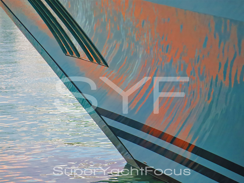 Yacht detail,reflections