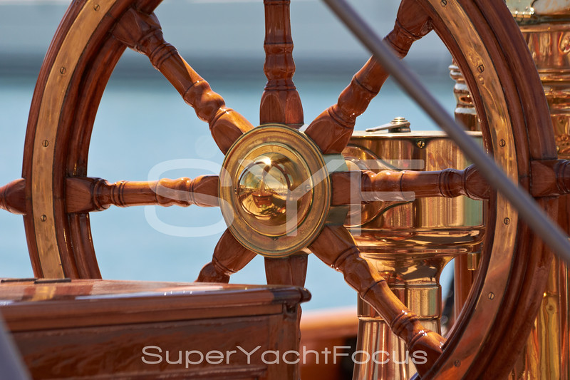 Yacht detail,helm