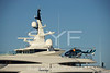 Helicopter on superyacht