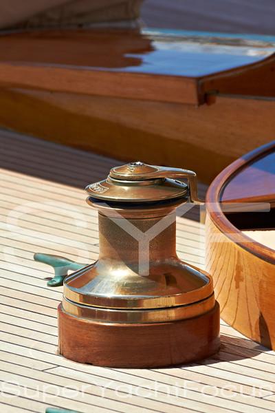 Yacht detail,winch