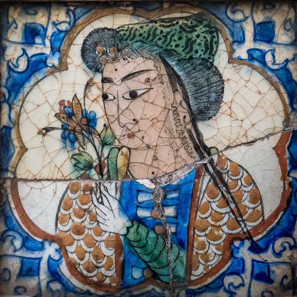Portrait tile with flowers