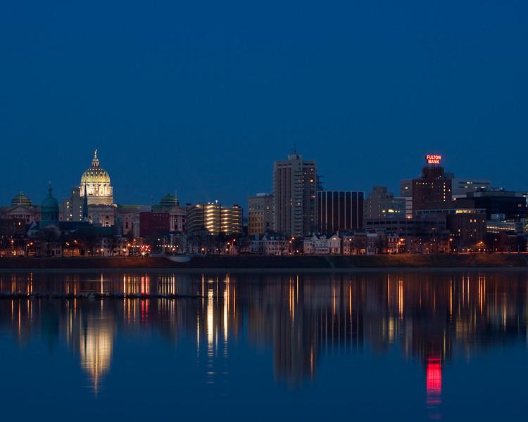 Harrisburg at Twilight