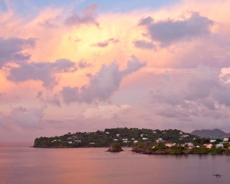 Sundown over St. Lucia