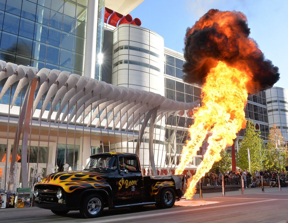 . The 66th annual Meguiar\'s Detroit Autorama, presented by O\'Reilly Auto Parts kicks off with an outdoors truck and cars towering inferno flame-throwing fest.