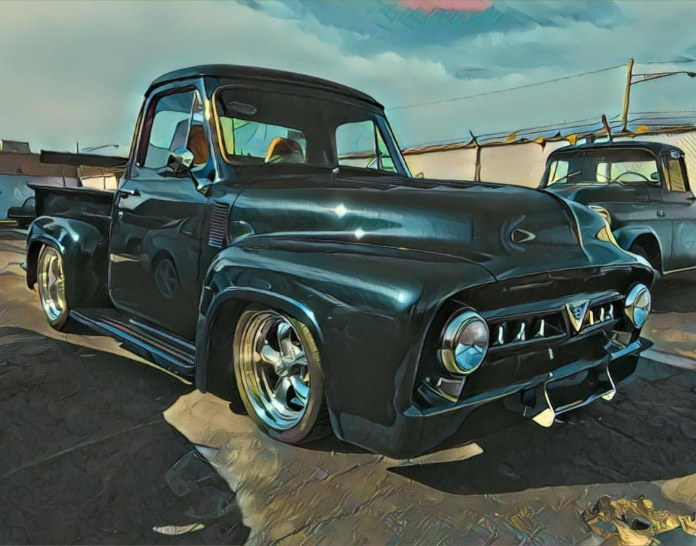 . A cool shot of the 1953 Ford truck  the co-owners of Detroit Deluxe, Jim Jackson and Paul Elizondo will be showing at this year\'s edition of Detroit Autorama. SUBMITTED PHOTO.