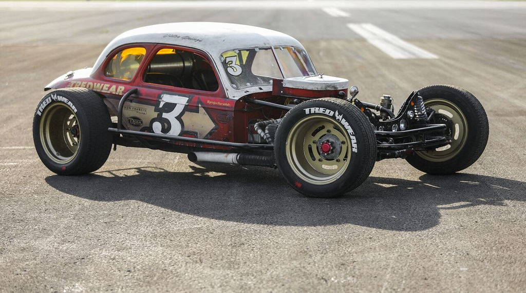 . Tredwears 1939 Chevy Coupe dirt track racer designed by Murray Pfaff.