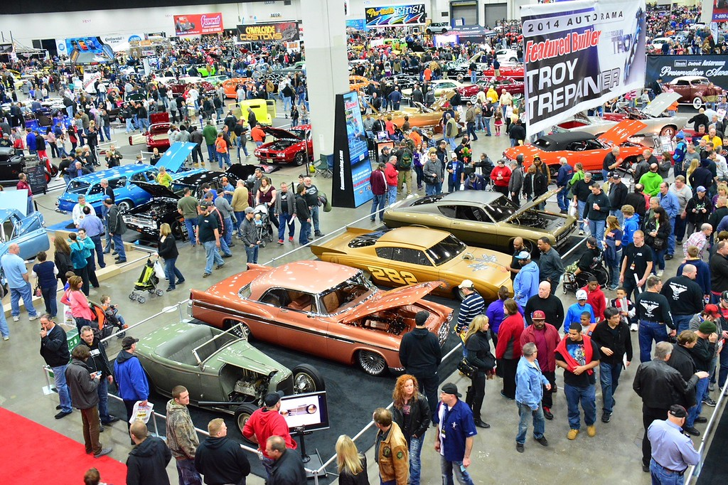 . A look at the spectators perusing a previous Autorama show at Cobo Center.