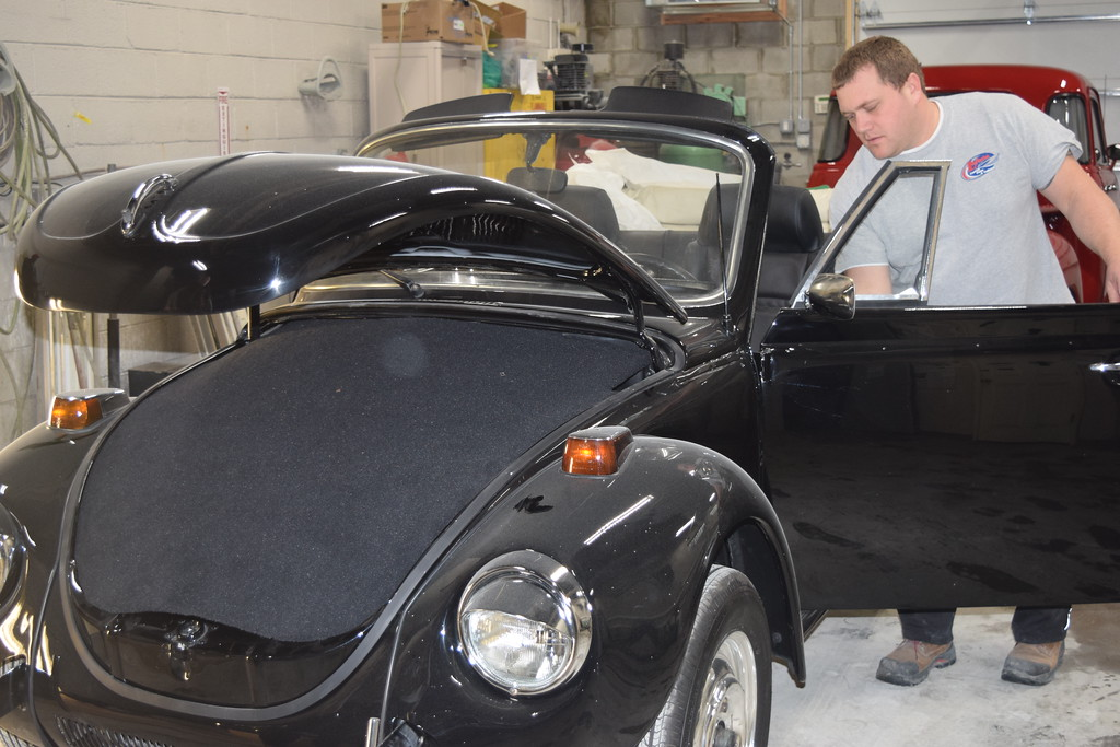 . This 1979 Super Beetle is dusty now but wait until you see her at the show.