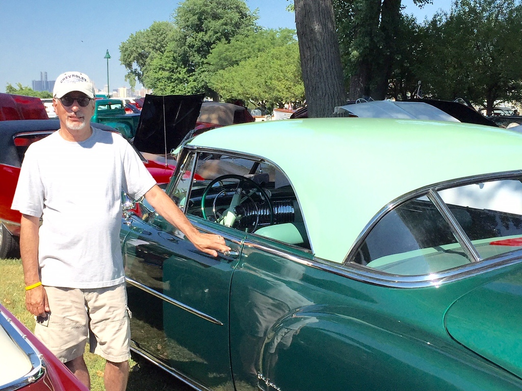. Dave Poirier of Farmington Hills with his 1952 Chevy Coupe.