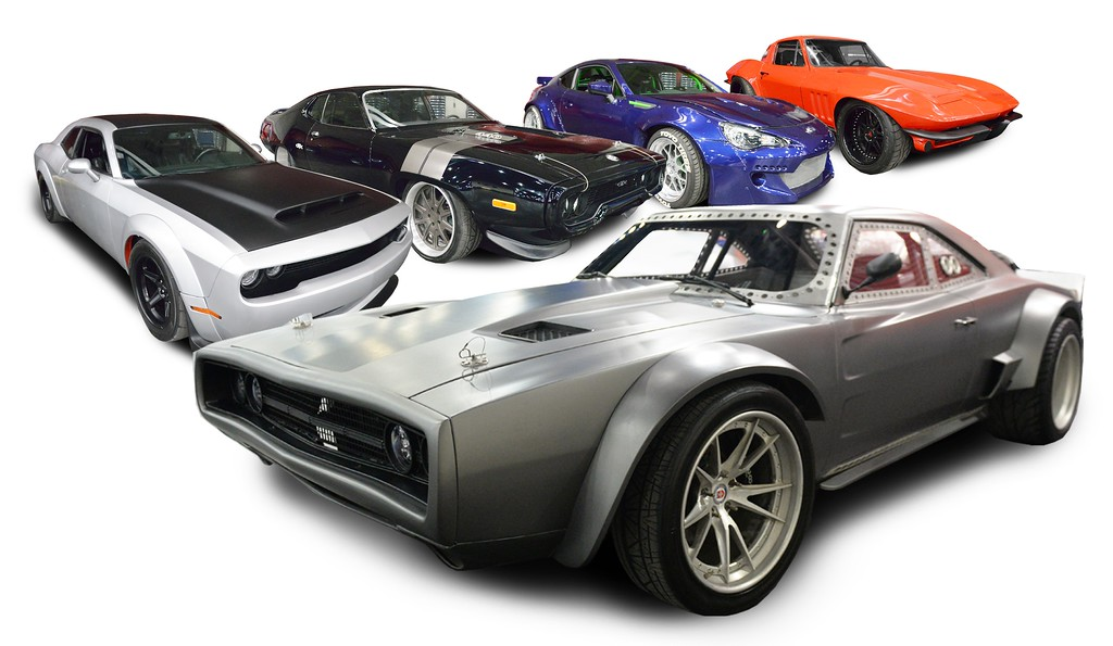 ". The movie cars from ""Fate of the Furious 8\"" will be featured during the 2018 Detroit Autorama."