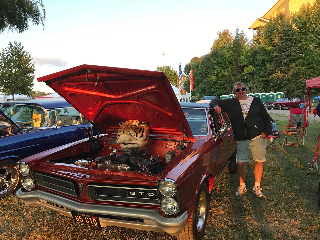 . Lars Chase of Waterford with his 1965 Pontiac Post Coupe.