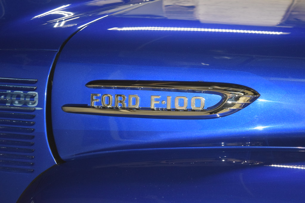 . The logo on Eric Lafata\'s 1954 Ford F100.