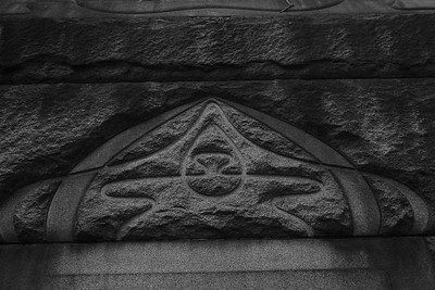 Detail of CJ Whitney mausoleum.