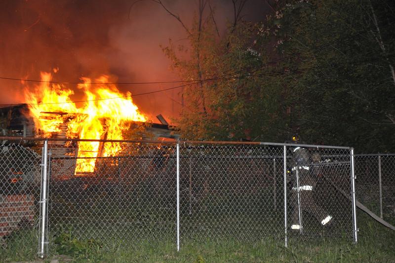 Garage Fire/Lawton & Lothrop/11:50 PM/E17, 39, 42, L7, Sqd. 4, Chief 5. (6-12-09)