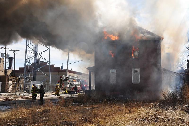Dwelling Fire/E. Jefferson & Jefferson Ct./3-14-09/E32, 9, 5, L9, 10, Squad 3, Chief 1
