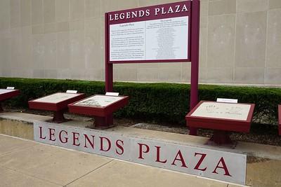 Legends Plaza outside the Detroit Historical Museum