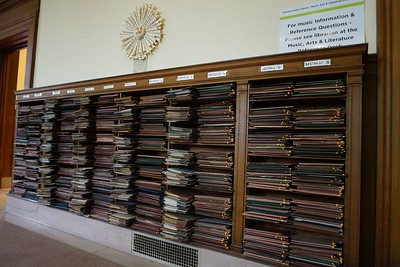 Wall of sheet music