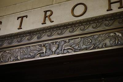 Detail of doorway in Adam Strohm Hall