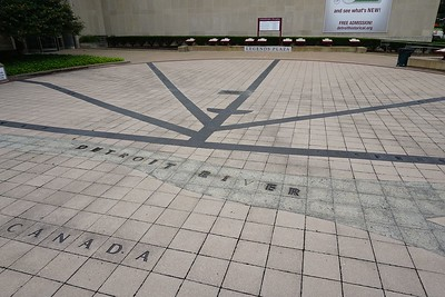 """""""Map"""" of Detroit at Legends Plaza outside the Detroit Historical Museum"""