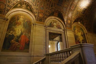 Third floor, doorway to Adam Strohm Hall