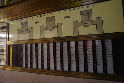 Directory of Detroit public library, main branch on Woodward Ave