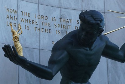 Spirit of Detroit, Coleman A. Young Municipal Center on Woodward Ave