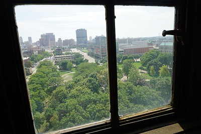 View of Cass Park and Cass Tech High School from 3rd floor