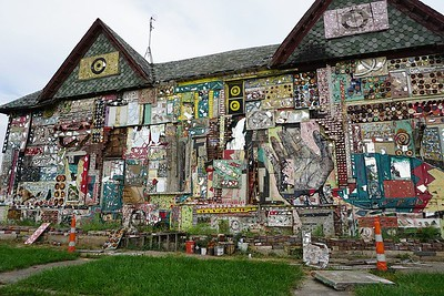 Iron House African Bead Museum art installation along Grand River