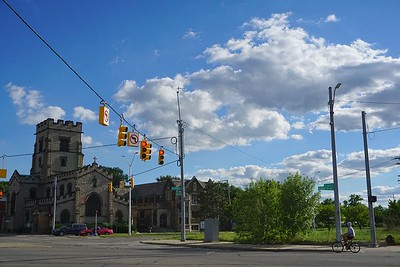 Intersection of Grand River, Trumbull, and MLK