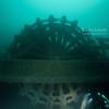 Detroit paddlewheel steamer wheel in 200ft