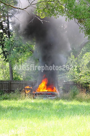 Park Grove & Queen - Car fire behind a vacant dwelling