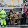 11/02/13 Detroit, MI - A five car accident occurred during rainy conditions caused two people to go to area hospitals.  One person had to be extricated from her vehicle.  She was transported in stable condition.