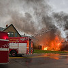 11/02/13 Detroit, MI - First due Squad 3 arrived to find a two story commercial building going throughout, which soon collapsed into itself.