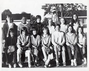 Two Mountains Girls Softball - circa 1977