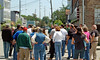 "Downtown ""Lofty"" Ideas Walking Tour - Preservation Month Activity - May 2007.  50 attendees."