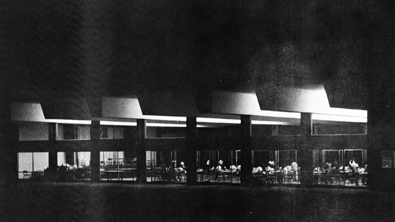 Dining-Hall at Night