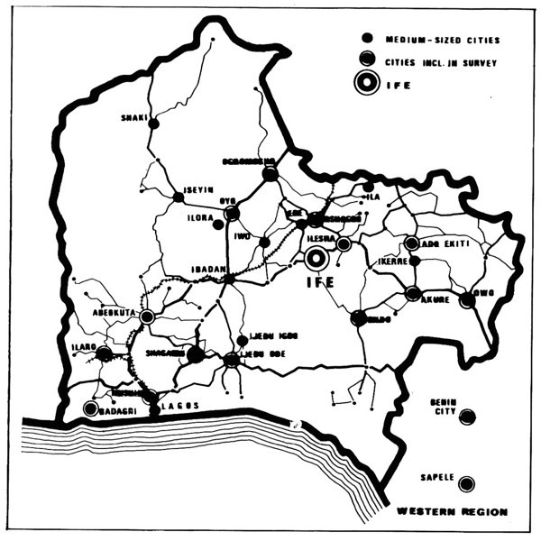 Cities and Major Roads