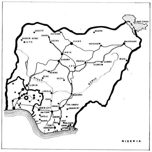 Major Cities, Railways and Roads