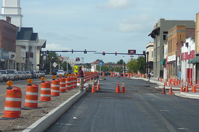 Main Street Construction August 2009