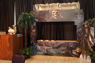Pirates of the Caribbean booth